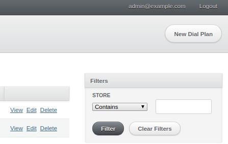 Admin user can create and delete records